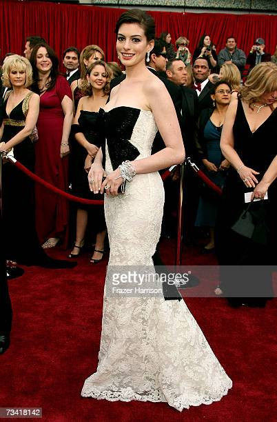 Actress Anne Hathaway attend the 79th Annual Academy Awards held at the Kodak Theatre on February 25 2007 in Hollywood California