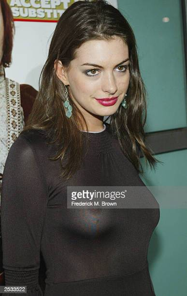 Actress Anne Hathaway attend the premiere of the movie 'School of Rock' at the Cinerama Dome September 24 2003 in Hollywood California