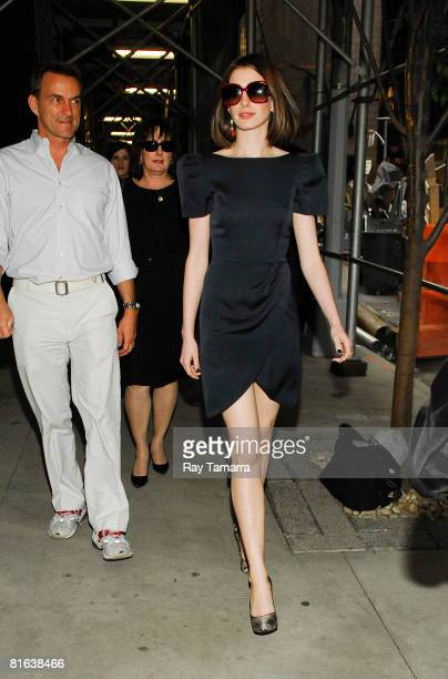 Actress Anne Hathaway attends a 'Get Smart' screening at the Core Club on June 19 2008 in New York City