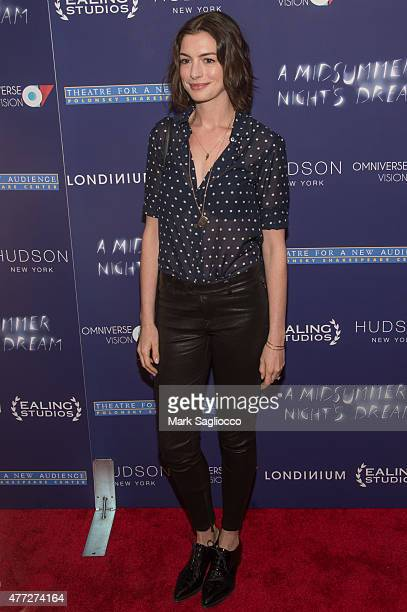 Actress Anne Hathaway attends 'A Midsummer Night's Dream' New York Premiere at DGA Theater on June 15 2015 in New York City