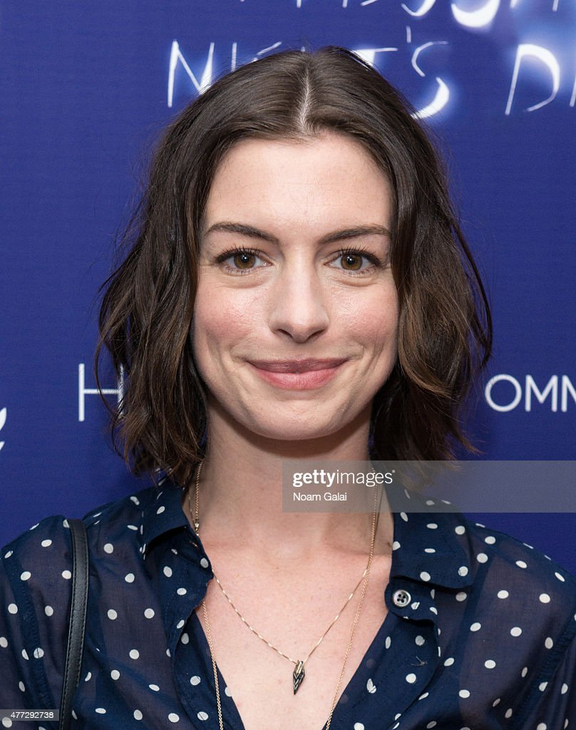 Actress Anne Hathaway attends 'A Midsummer Night's Dream' New York premiere at DGA Theater on June 15, 2015 in New York City.