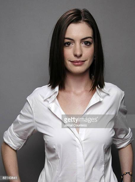 Actress Anne Hathaway attends a portrait session for the You Vote Campaign at 1100 6th Ave on September 19 2007 in New York City