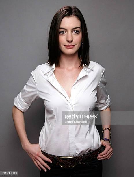 NEW YORK SEPTEMBER 19 Actress Anne Hathaway attends a portrait session for the You Vote Campaign at 1100 6th Ave on September 19 2007 in New York City