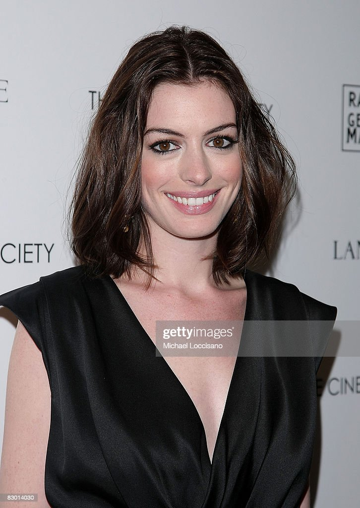 Actress Anne Hathaway attends a screening of 'Rachel Getting Married' hosted by The Cinema Society and Lancome at the Landmark Sunshine Theatre on September 25, 2008 in New York City.