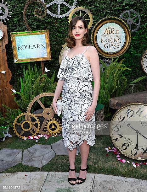 Actress Anne Hathaway attends Disney's Alice Through the Looking Glass event on May 12 2016 at Roseark in Los Angeles California Top designers...
