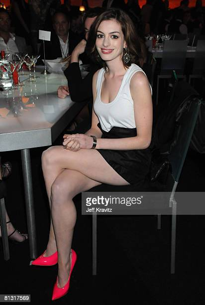 Actress Anne Hathaway attends Spike TV's 2nd Annual 'Guys Choice' Awards at Sony Studios on May 30 2008 in Culver City California