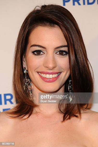 Actress Anne Hathaway attends the 18th Annual Empire State Pride Agenda Fall Dinner at the Sheraton New York Hotel Towers on October 22 2009 in New...