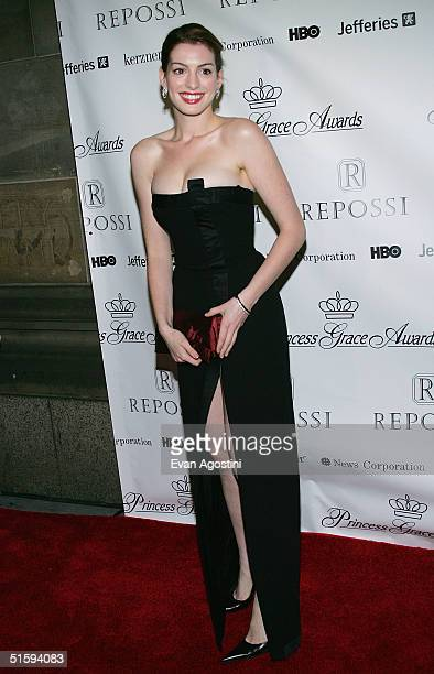 Actress Anne Hathaway attends the 2004 Princess Grace Awards on October 27 2004 at Cipriani's 42nd Street in New York City