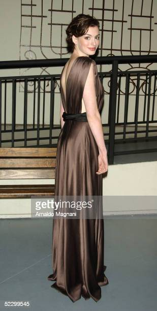 Actress Anne Hathaway attends the 2005 'Mr Abbott' Awards at the Lighthouse at Chelsea Piers on March 7 2005 in New York City The 'Mr Abbott Awards'...