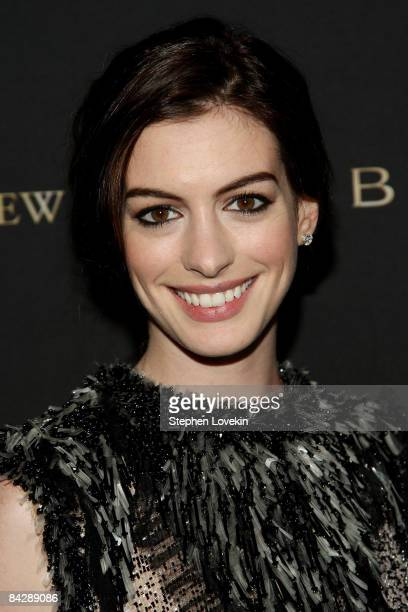 Actress Anne Hathaway attends the 2008 National Board of Review awards gala at Cipriani on January 14 2009 in New York City