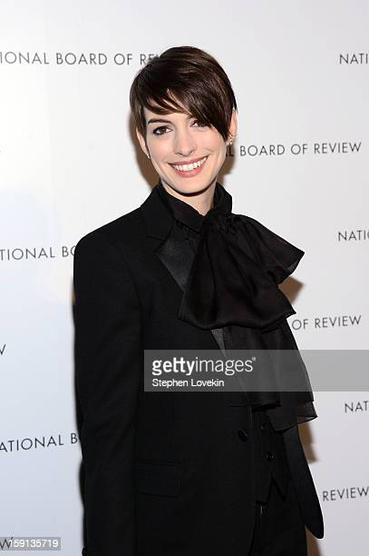 Actress Anne Hathaway attends the 2013 National Board Of Review Awards at Cipriani 42nd Street on January 8 2013 in New York City