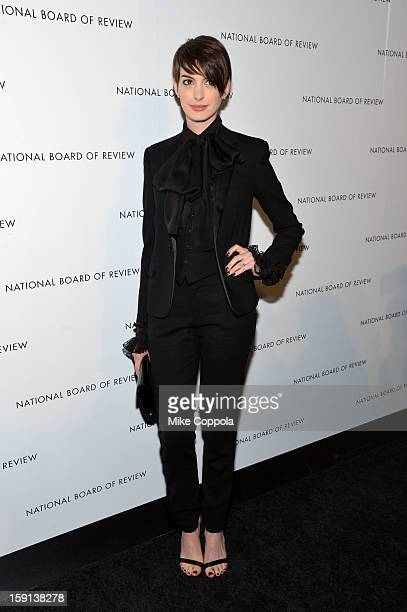 Actress Anne Hathaway attends the 2013 National Board Of Review Awards Gala at Cipriani 42nd Street on January 8 2013 in New York City