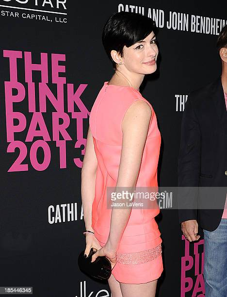 Actress Anne Hathaway attends the 2013 Pink Party at Hangar 8 on October 19, 2013 in Santa Monica, California.
