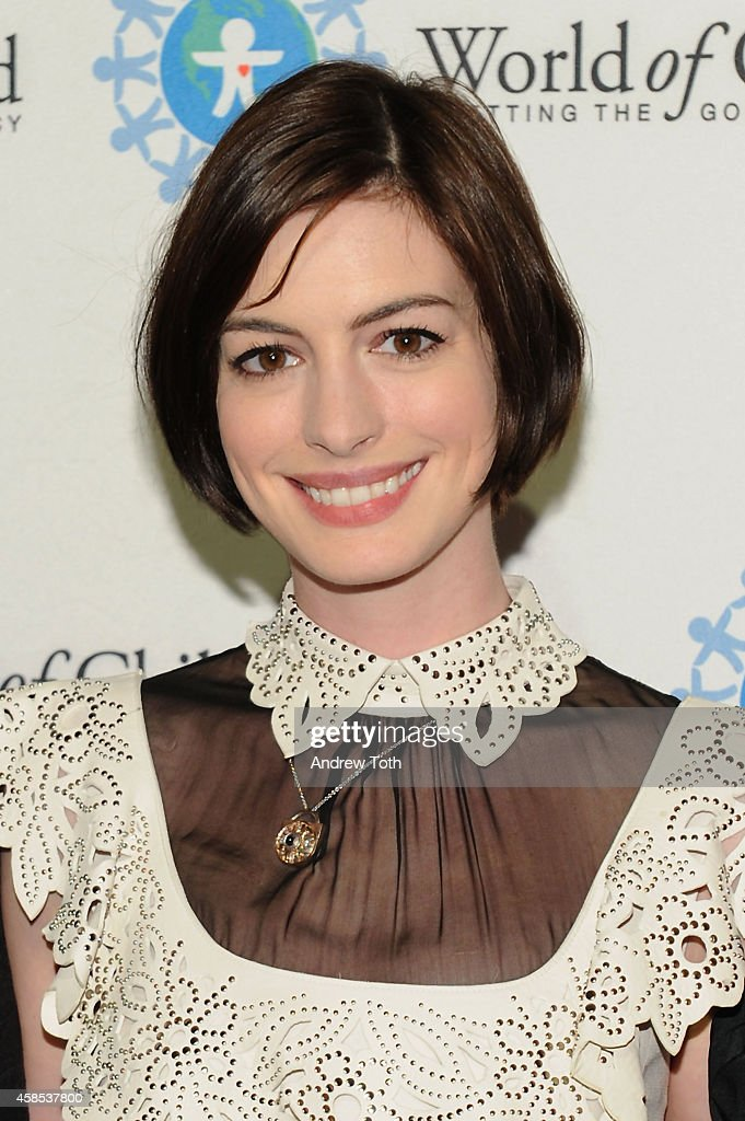 Actress Anne Hathaway attends the 2014 World Of Children Awards at 583 Park Avenue on November 6, 2014 in New York City.