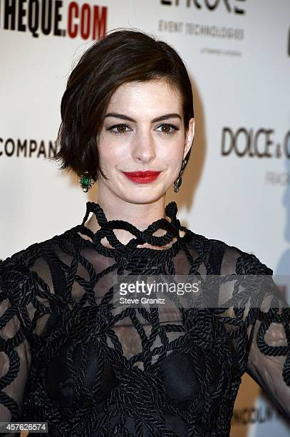 Actress Anne Hathaway attends the 28th American Cinematheque Award honoring Matthew McConaughey at The Beverly Hilton Hotel on October 21 2014 in...