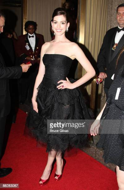Actress Anne Hathaway attends the 63rd Annual Tony Awards at Radio City Music Hall on June 7 2009 in New York City
