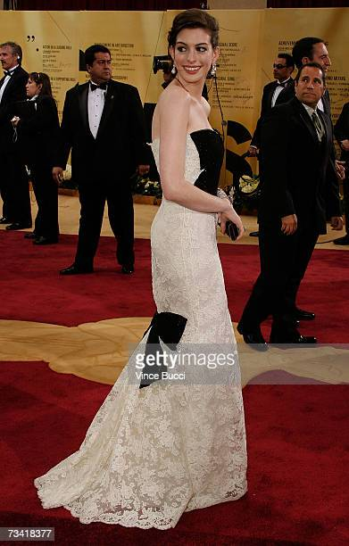 Actress Anne Hathaway attends the 79th Annual Academy Awards held at the Kodak Theatre on February 25 2007 in Hollywood California