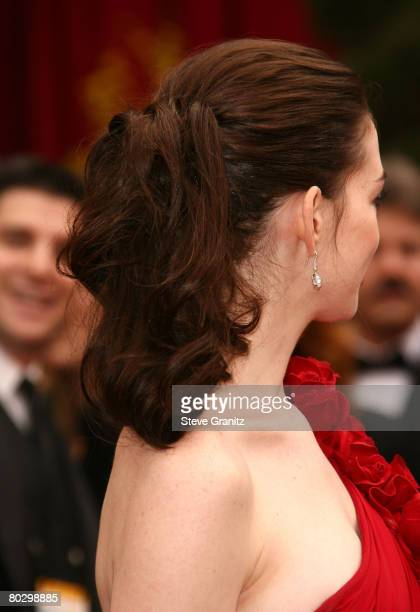 Actress Anne Hathaway attends the 80th Annual Academy Awards at the Kodak Theatre on February 24 2008 in Los Angeles California