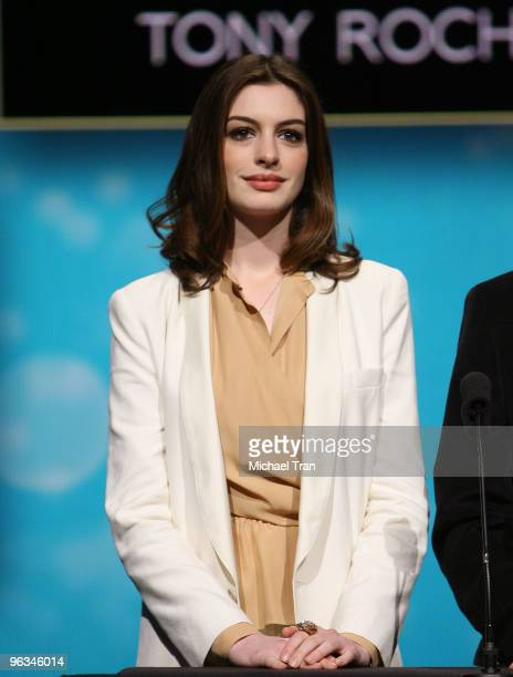 Actress Anne Hathaway attends the 82nd Academy Awards Nominations at the Samuel Goldwyn Theater on February 2, 2010 in Beverly Hills, California.