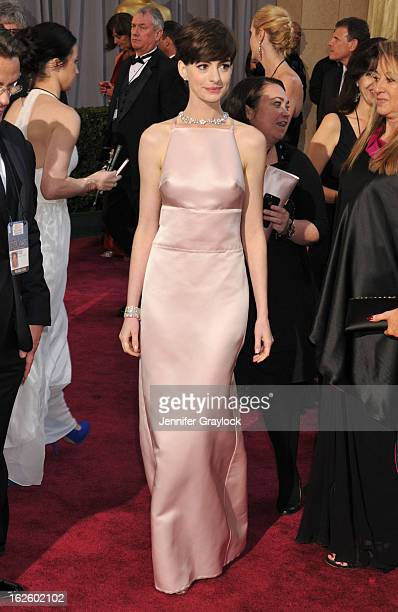 Actress Anne Hathaway attends the 85th Annual Academy Awards held at the Hollywood Highland Center on February 24 2013 in Hollywood California