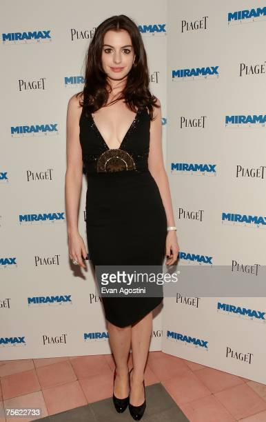 Actress Anne Hathaway attends the 'Becoming Jane' premiere after party at the Bowery Hotel July 24 2007 in New York City