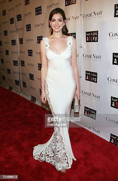 Actress Anne Hathaway attends 'The Black Ball' presented by Conde Nast Media Group and hosted by Alicia Keys and Iman to benefit 'Keep A Child Alive'...