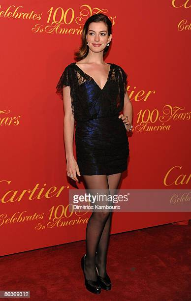 Actress Anne Hathaway attends the Cartier 100th Anniversary in America Celebration at Cartier Fifth Avenue Mansion on April 30 2009 in New York City