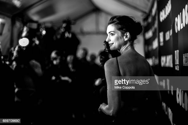 Actress Anne Hathaway attends the Colossal New York Premiere at AMC Lincoln Square Theater on March 28 2017 in New York City