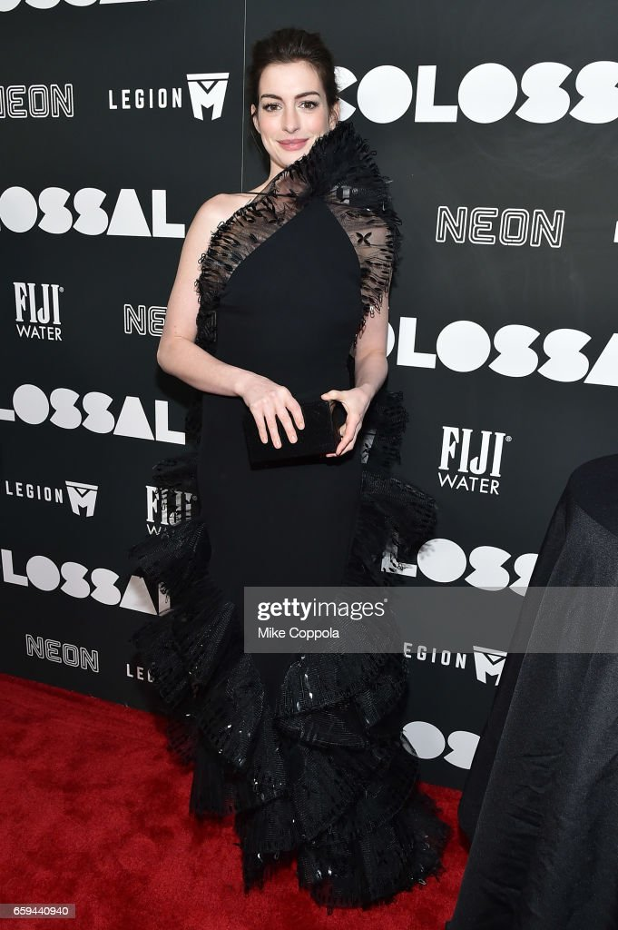 Actress Anne Hathaway attends the 'Colossal' premiere at AMC Lincoln Square Theater on March 28, 2017 in New York City.
