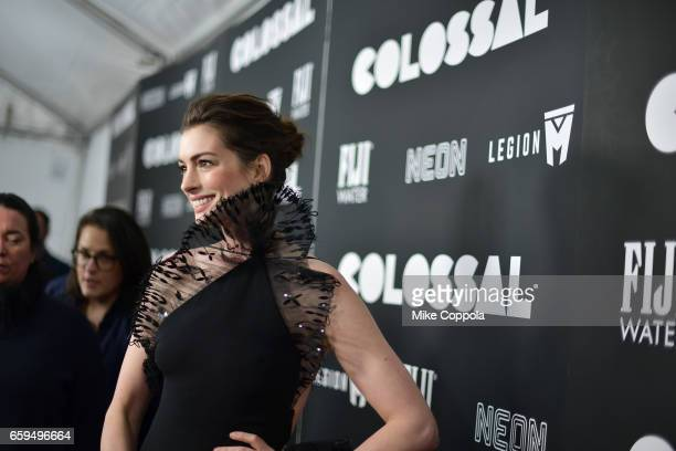 Actress Anne Hathaway attends the 'Colossal' premiere at AMC Lincoln Square Theater on March 28 2017 in New York City