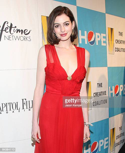Actress Anne Hathaway attends the Creative Coalition's 2009 Inaugural Ball at the Harman Center for the Arts on January 20 2009 in Washington DC