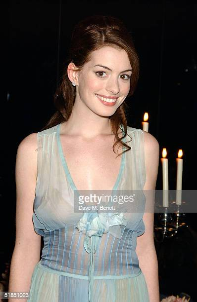 Actress Anne Hathaway attends the 'Ella Enchanted' movie afterparty at the Rouge club on December 11 2004 in London