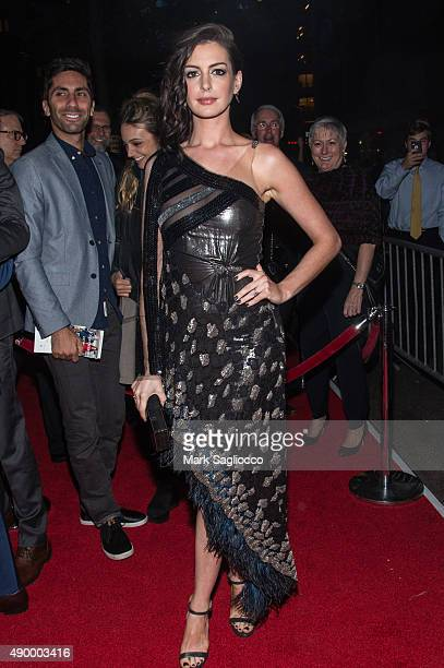 Actress Anne Hathaway attends 'The Intern' New York Premiere at the Ziegfeld Theater on September 21 2015 in New York City