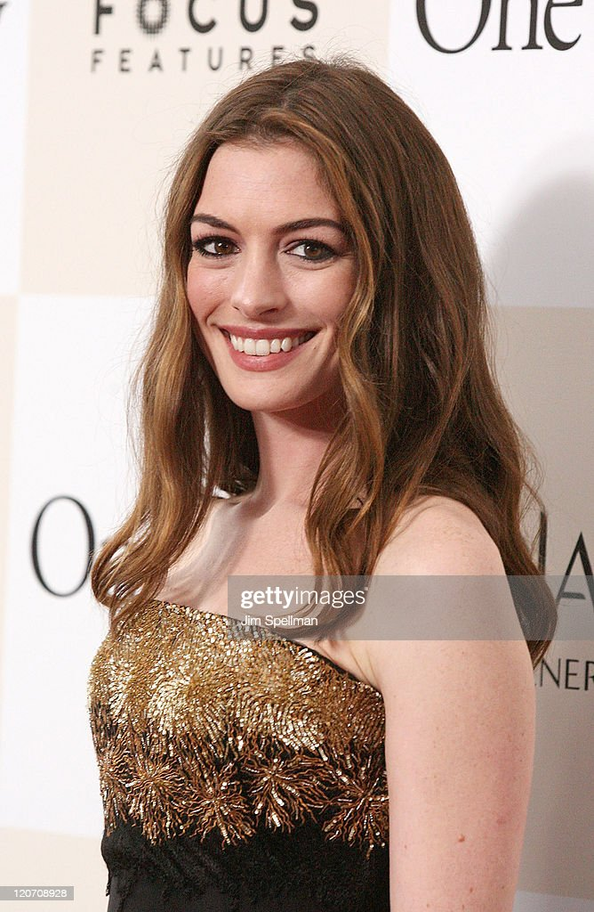 Actress Anne Hathaway attends the 'One Day' premiere at the AMC Loews Lincoln Square 13 theater on August 8, 2011 in New York City.