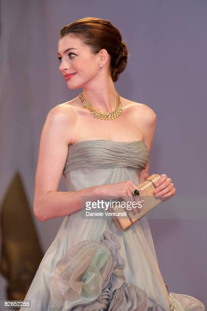 Actress Anne Hathaway attends the premiere of Rachel Getting Married at the Sala Grande during the 65th Venice Film Festival on September 3 2008 in...
