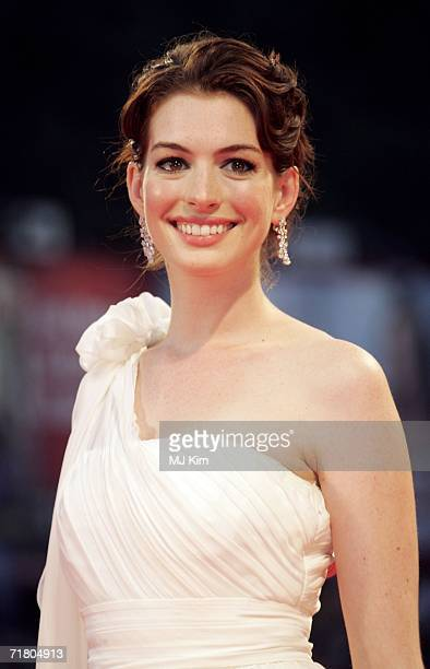 Actress Anne Hathaway attends the premiere of the film 'Devil Wears Prada' during the ninth day of the 63rd Venice Film Festival on September 7, 2006...