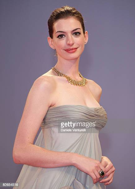 Actress Anne Hathaway attends the 'Rachel Getting Married' film premiere at the Sala Grande during the 65th Venice Film Festival on September 3 2008...