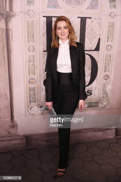 Actress Anne Hathaway attends the Ralph Lauren fashion show during New York Fashion Week at Bethesda Terrace on September 7 2018 in New York City