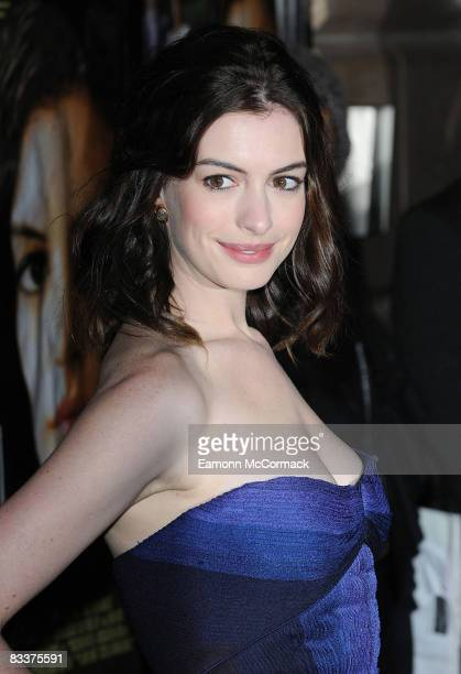 Actress Anne Hathaway attends the screening of 'Rachel Getting Married' at Vue West End on October 20 2008 in London England