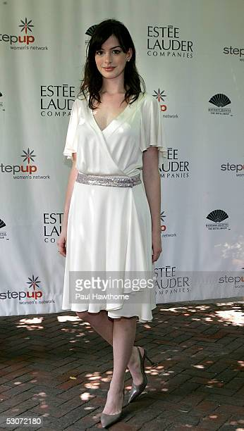 """Actress Anne Hathaway attends the Step Up Women's Network """"Inspiration Awards"""" at the Central Park Boat House June 15, 2005 in New York City."""