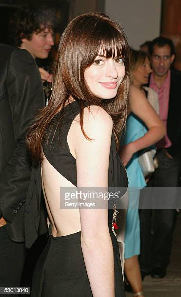 Actress Anne Hathaway attends the 'Unveil The Night With Dom Perignon And Karl Lagerfeld' event at Skylight Studios June 2 2005 in New York City