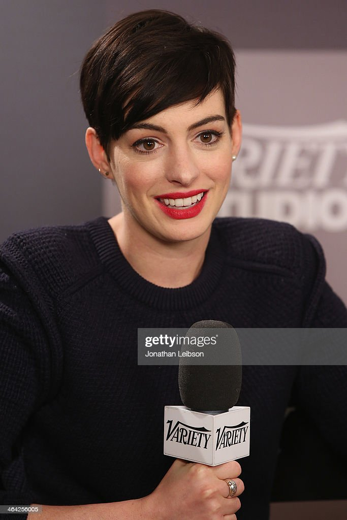 Actress Anne Hathaway attends the Variety Studio: Sundance Edition presented by Dawn Levy on January 21, 2014 in Park City, Utah.