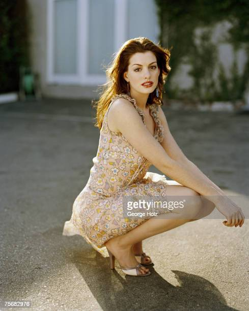 Actress Anne Hathaway is photographed for Cosmo Girl Magazine on February 1 2004 in Los Angeles California