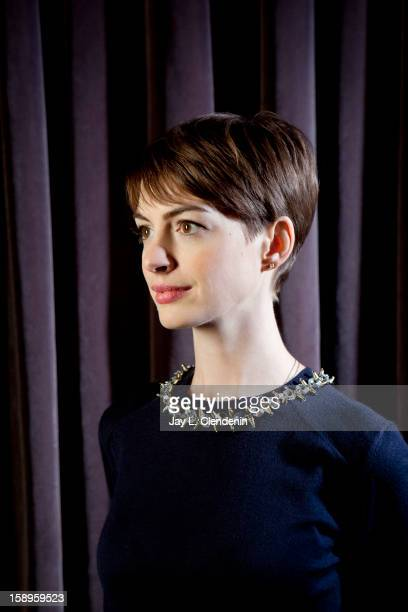 Actress Anne Hathaway is photographed for Los Angeles Times on November 30 2012 in New York City PUBLISHED IMAGE CREDIT MUST READ Jay L Clendenin/Los...