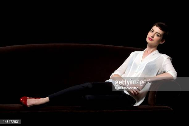 Actress Anne Hathaway is photographed for USA Today on July 16 2012 in Los Angeles California