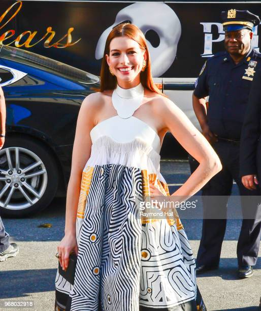 Actress Anne Hathaway is seen in Midtown on June 5 2018 in New York City