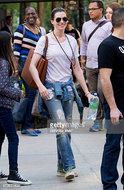 Actress Anne Hathaway is seen on May 8 2015 in New York City