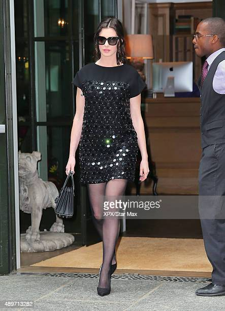 Actress Anne Hathaway is seen on September 22 2015 in New York City