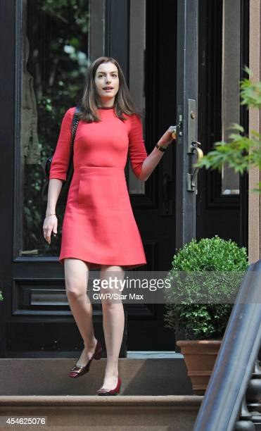 Actress Anne Hathaway is seen on September 4 2014 in New York City