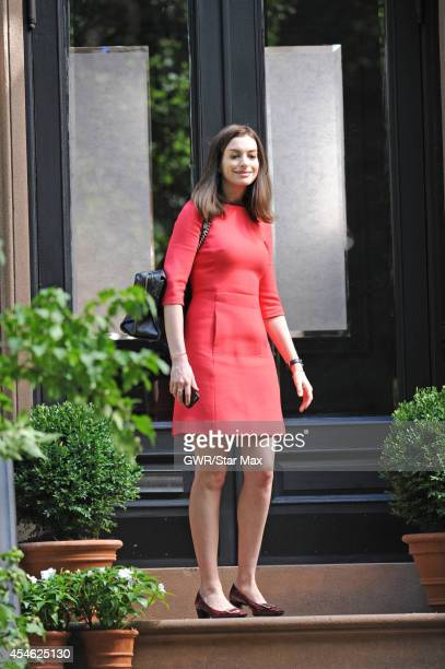 Actress Anne Hathaway is seen on September 4, 2014 in New York City.